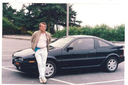 Me and my car, both much newer in 1992