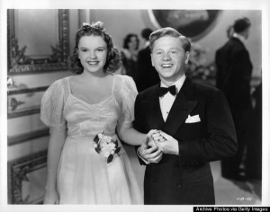 Judy Garland And Mickey Rooney In 'Andy Hardy Meets Debutante'